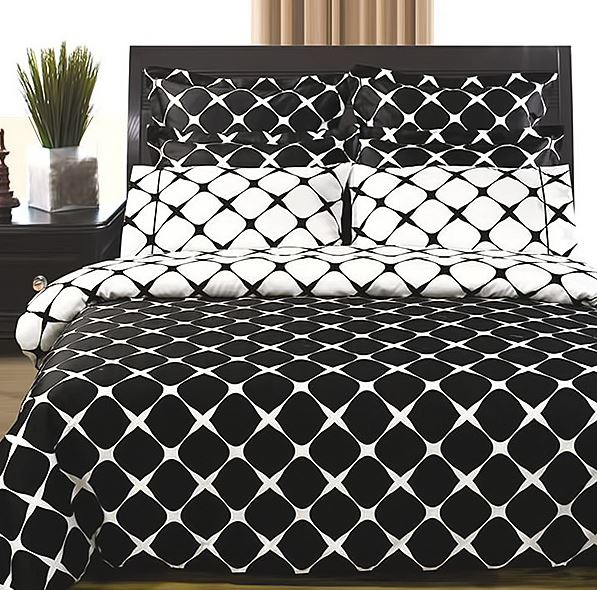 Black and White Bloomingdale Duvet Set