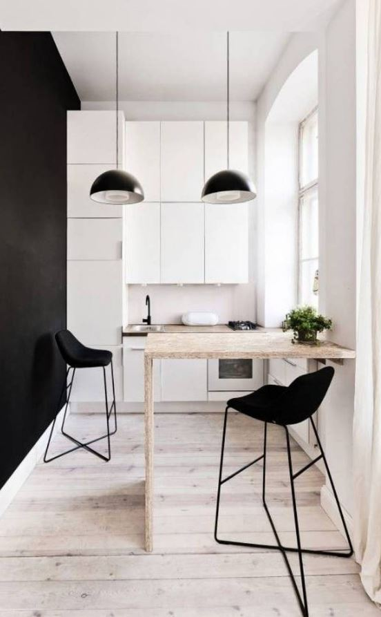 Black and White Cozy Kitchen