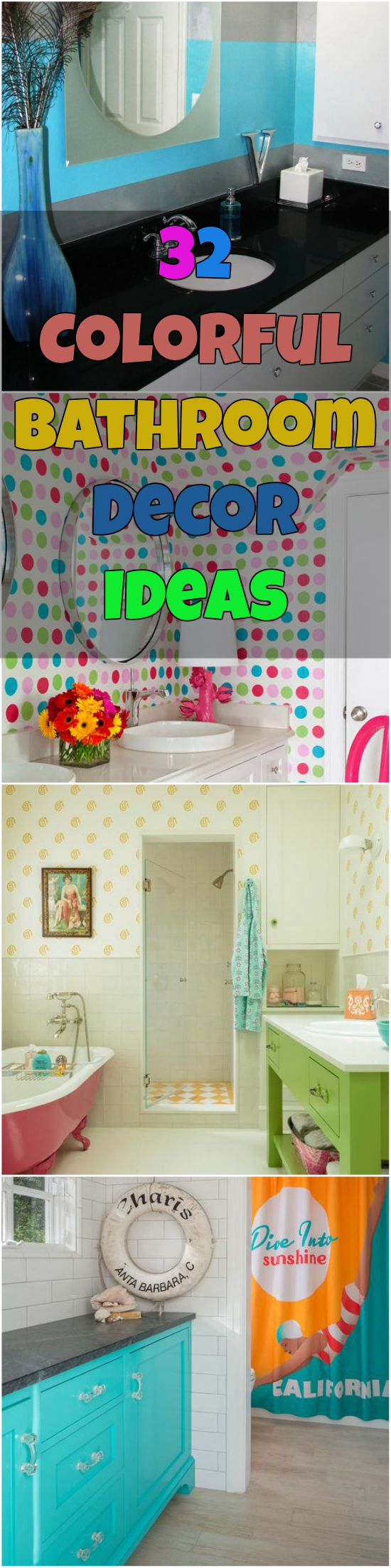 32 Colorful Bathroom Decor Ideas