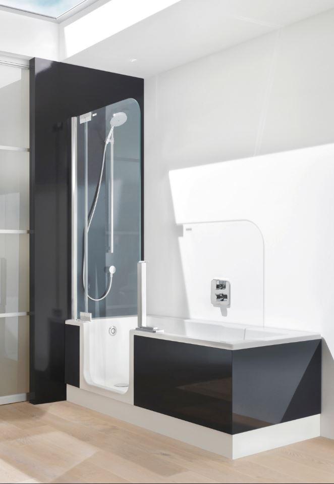 Black & White Modern Shower