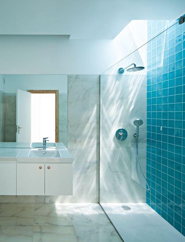 Dream in Blue Shower
