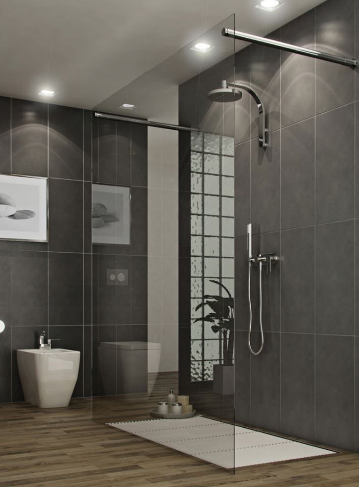 Glass Frame Modern Walk in Shower