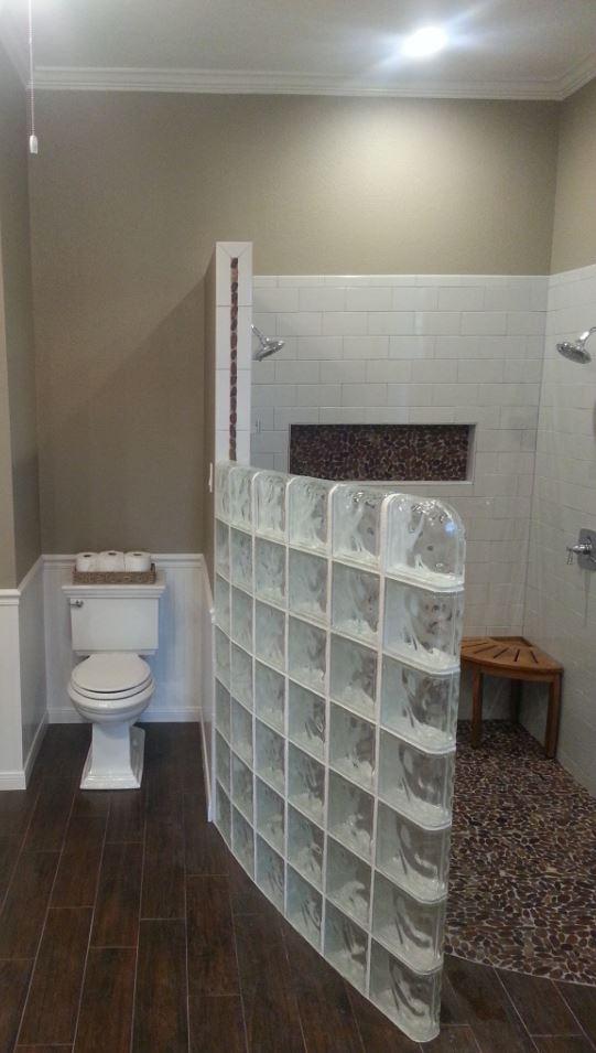 Glass Wall Walk in Shower