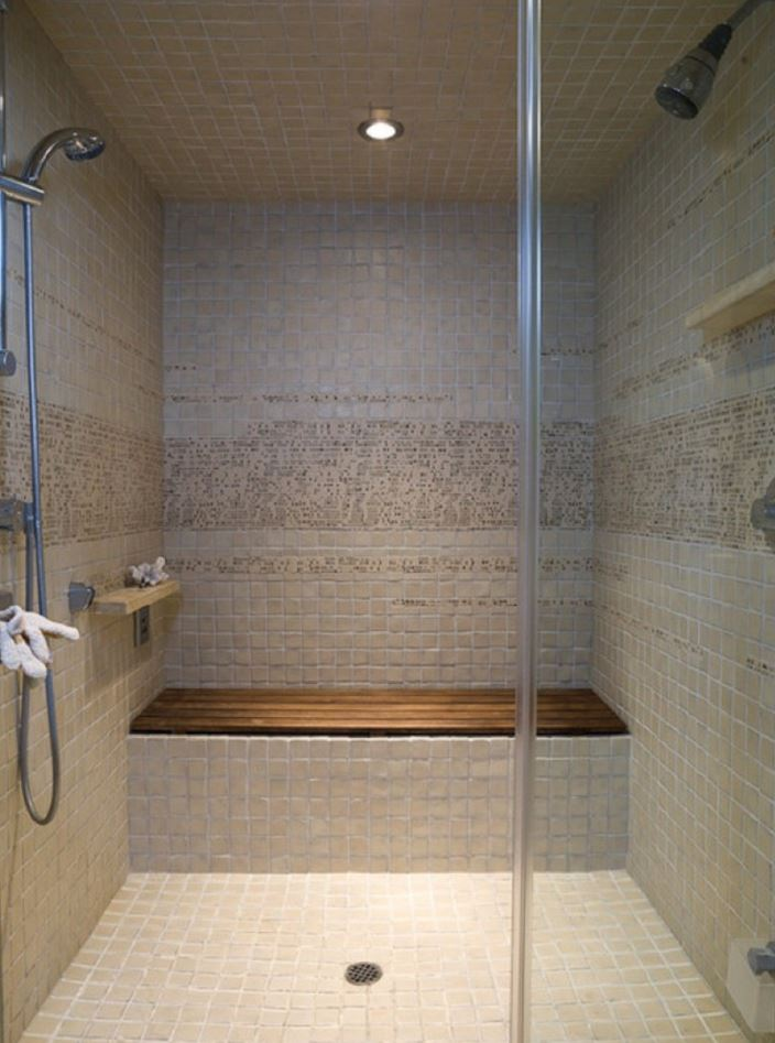 Minimalist Brown Shower Room