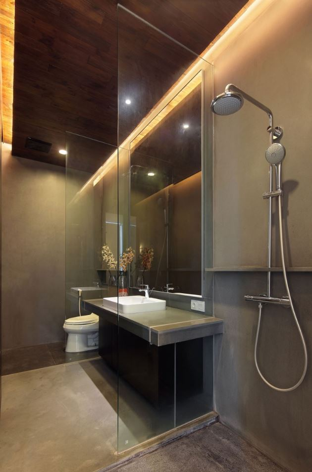 Modern Brown Shower