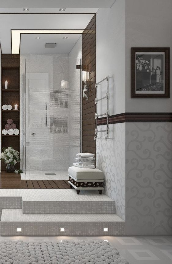 Modern Walk in Shower