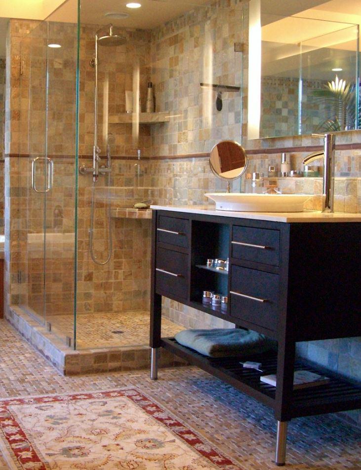 Porcelain Wall Tiles Walk in Shower