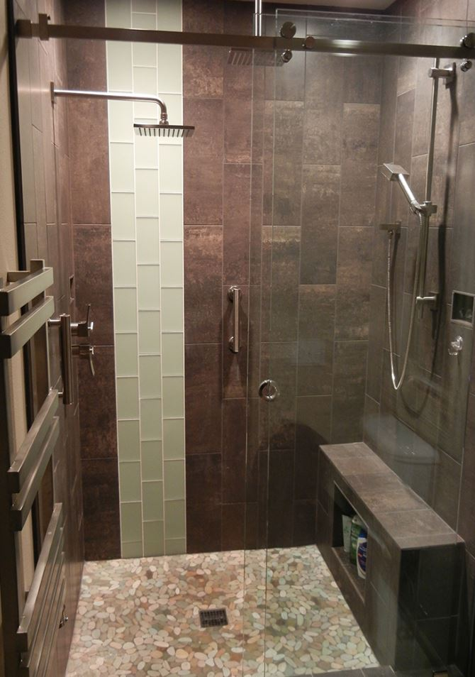 Stylish Walk in Shower