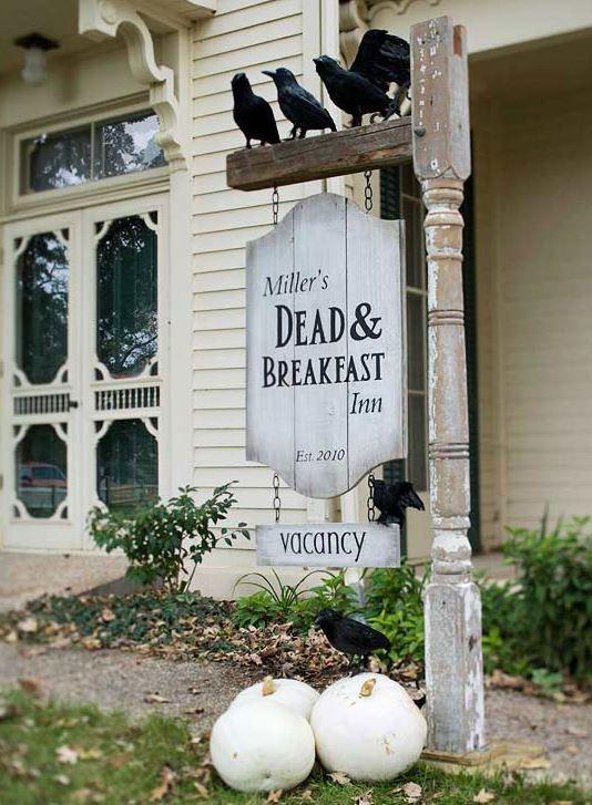 Dead And Breakfast Inn Sign For Halloween