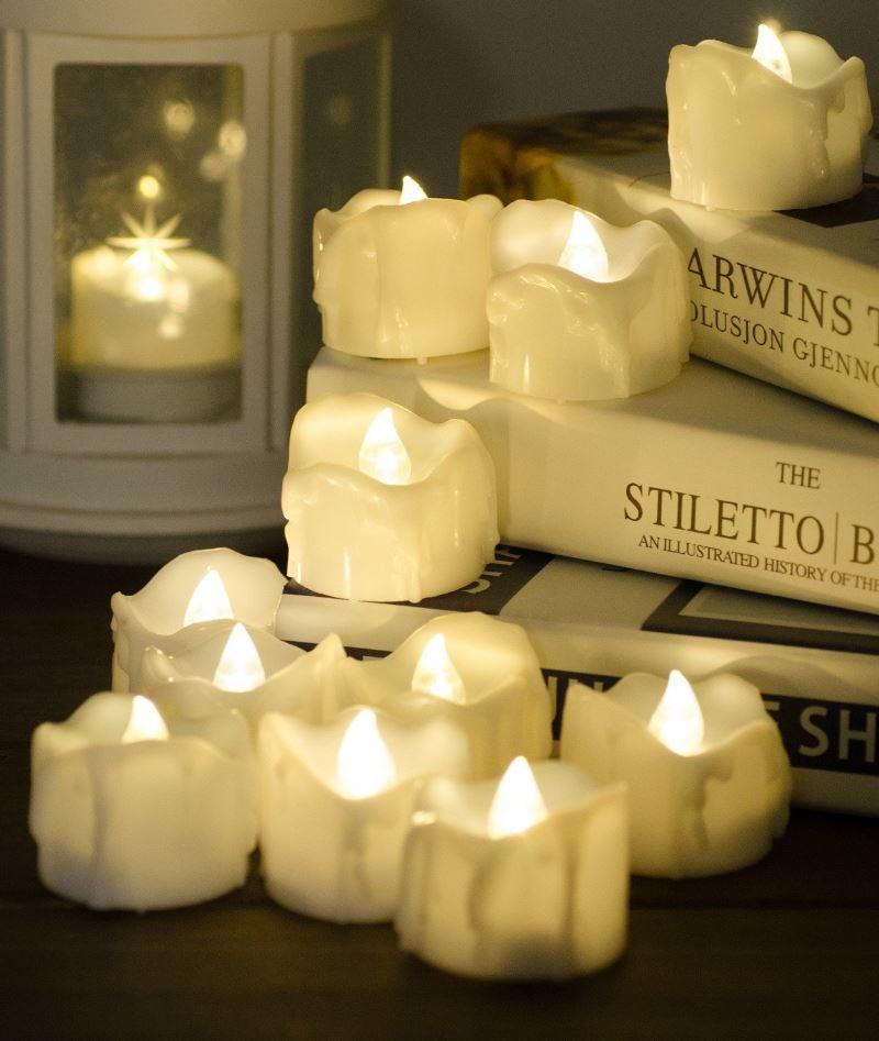 Flameless Candles Flickering Tea Light