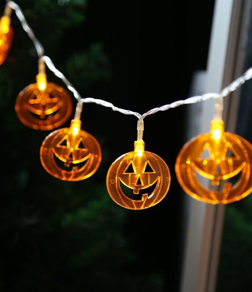 LED Pumpkin String Lights